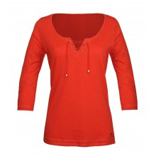 DOUGLAS1 TEE SHIRT MANCHES 3/4 ORANGE