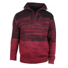 PALACE1R PULL COL CAMION ROUGE/NOIR