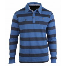 RUGBY2 POLO ML GRIS/BLEU